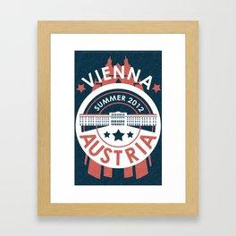 Vienna, Austria - Summer 2012 Framed Art Print