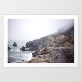 Foggy California Coast Art Print