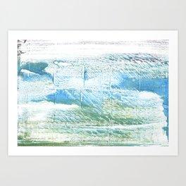 Mint cream abstract watercolor Art Print
