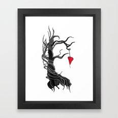 Love, like a tree Framed Art Print