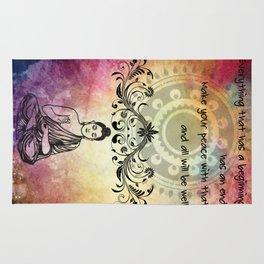 Zen Art Inspirational Buddha Quotes Life Rug