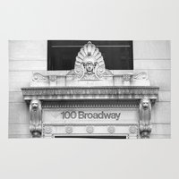 broadway Area & Throw Rugs featuring 100 Broadway by Jon Cain