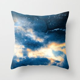 Celestial Grunge Clouds Throw Pillow
