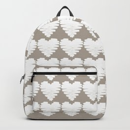 Heart pattern / grey cashmere Backpack