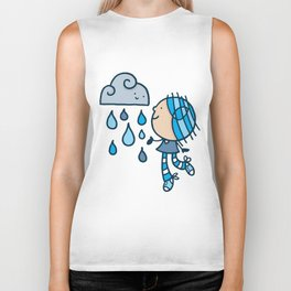 Rain Cloud Girl Biker Tank