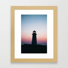 Goodnight Bright Light Framed Art Print