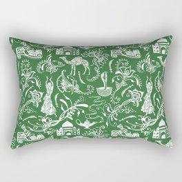 Arabian Nights // Parsley Green Rectangular Pillow