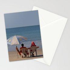 Life Guards on Palolem Beach Stationery Cards