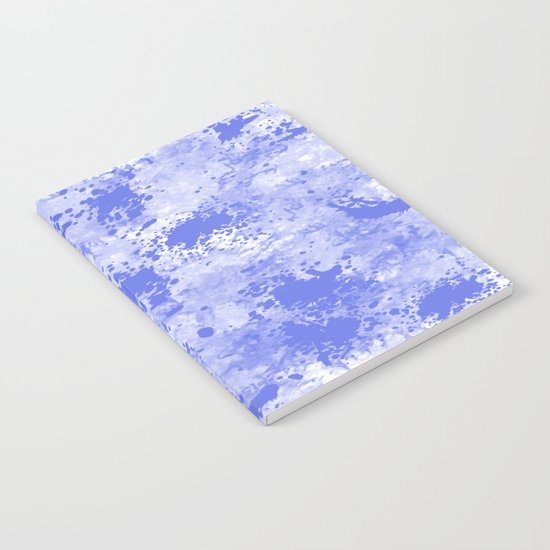 Blue Watercolor Paint Splatter Abstract Notebook
