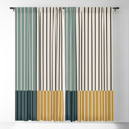 Color Block Line Abstract VIII Blackout Curtain
