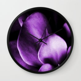 Succulent Leaves In Ultraviolet Color #decor #society6 #homedecor Wall Clock