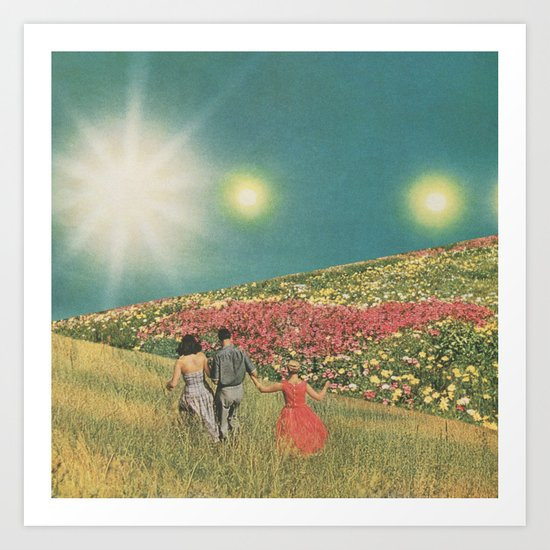 Towards the suns Art Print