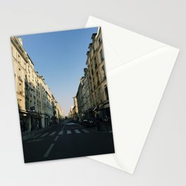 Sunny Street in Paris - Le Marais Stationery Cards