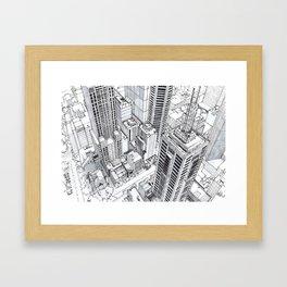 City view Framed Art Print