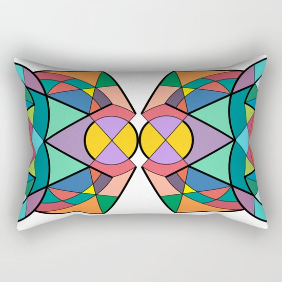 Xagon #3_1 - Tri Rectangular Pillow