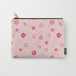 Little Stitch Floral in Pale Pink Peach Carry-All Pouch