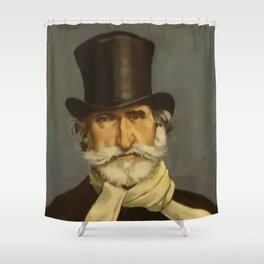 Giovanni Boldini - portrait of Verdi Shower Curtain