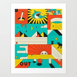 LOOK OUT Art Print
