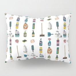 Tiny Cleaning Supplies Pillow Sham