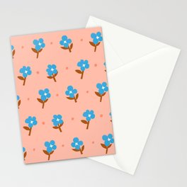 Abstraction_Little_Blue_Flowers Stationery Cards