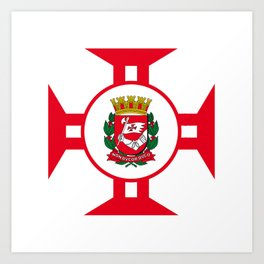 Flag of Sao Paolo -  Non ducor, duco Art Print