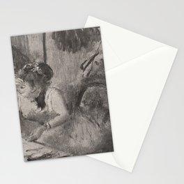 Edgar Degas - Intimacy.jpg Stationery Cards