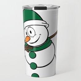 Cool Dabbing Snowman Winter Fun Christmas Holidays Travel Mug