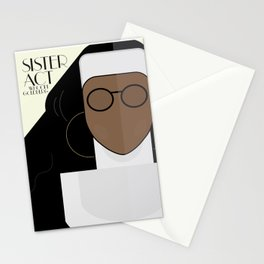 Sister Act, minimal Movie Poster, classic comedy film, funny, Whoopi Golberg, american cinema Stationery Cards