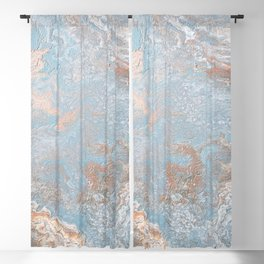 Rose Gold & Baby Blue Blackout Curtain