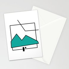 ABSTRACT MOUNTAIN LINES Stationery Cards