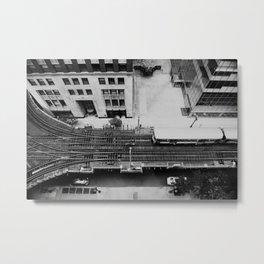 looking down on the tracks ... Metal Print