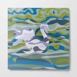 Somewhere in Green Water Metal Print