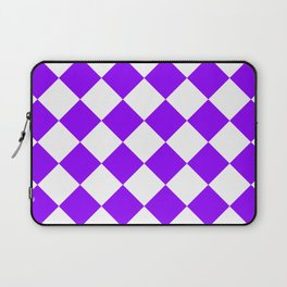 Large Diamonds - White and Violet Laptop Sleeve
