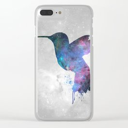 Galaxy Series (Hummingbird) Clear iPhone Case