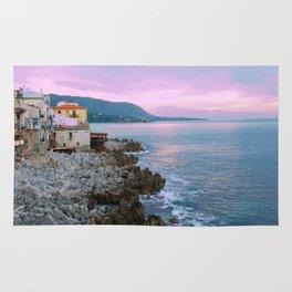 Cefalu Italy Coast Sunset Rug