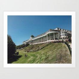 The Grand Hotel In Mackinac Island Art Print