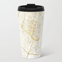Austin Map Gold Travel Mug