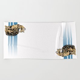 For the love of Cats Beach Towel
