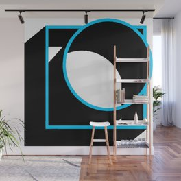 Tube in a Cube White Wall Mural