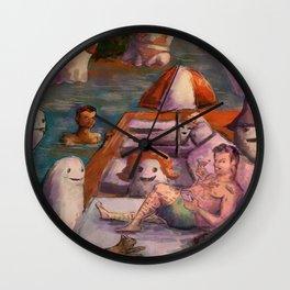 summer horror love Wall Clock
