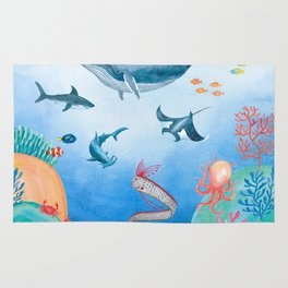 Message from the deep sea Rug