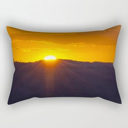 Fiery Glow Rectangular Pillow