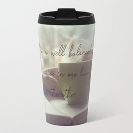 Secret of life is coffee and books Travel Mug