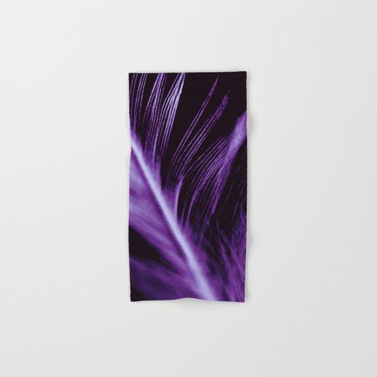 Purple Feather close up Hand & Bath Towel