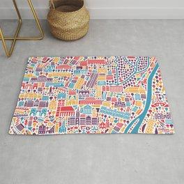 Munich City Map Poster Rug