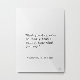 Emerson Ralph Waldo quote awesome 5 Metal Print