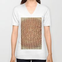 tree rings V-neck T-shirts featuring Oak Rings by Michael S.