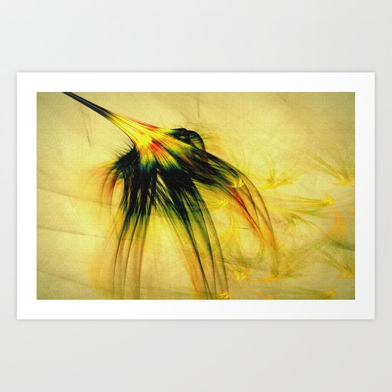 Flower in the Wind 2 Art Print