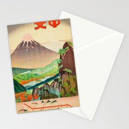Japanese Rail Travel Poster Stationery Cards