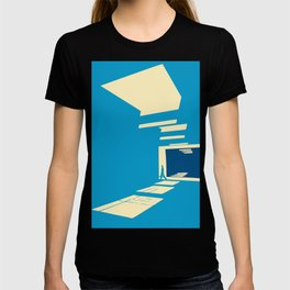 Light and shadow abstract T-shirt